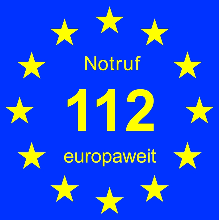 Notruf 112 europaweit European Emergency Call 112